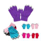 5 Fingers Touch Screen Gloves-Solid Color-ADFD8033