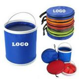 11L Folding Water Bucket With Zipper Bag-ADWD5015