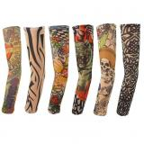Nylon Fake Stretchy Temporary Tattoo Arm Sleeve-ADEA4003