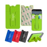 Soft Silicone Cell Phone Kickstand & Wallet-EVWD5027