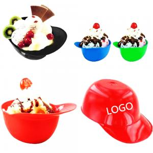 8oz Mini Baseball Helmet Ice Cream Bowl